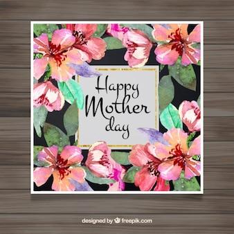 Dzień powitania akwarela kwiecistych matki