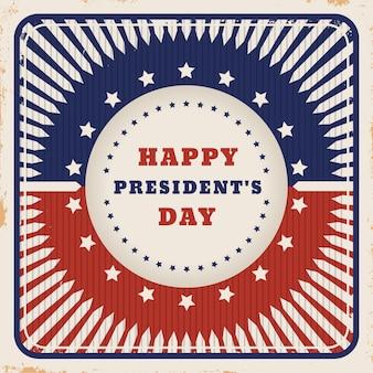 Dzień prezydenta vintage w kolorach flagi