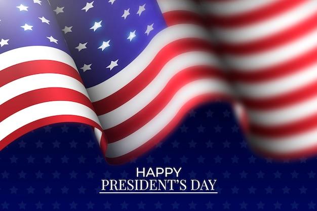 Dzień prezydenta z realistyczną flagą