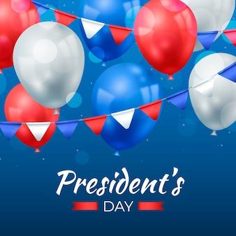 Dzień prezydenta z realistycznymi balonami