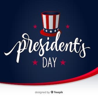 Dzień prezydentów kapelusza tło