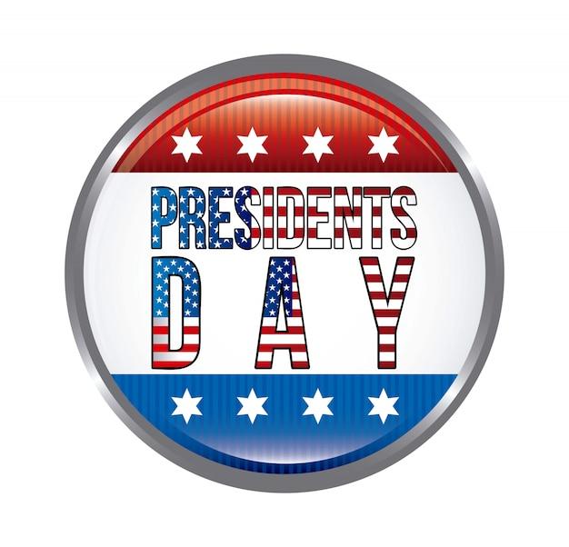 Dzień prezydentów tło ilustracji wektorowych stanów zjednoczonych