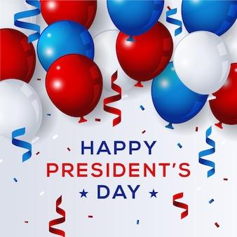 Dzień prezydentów z realistycznymi balonami