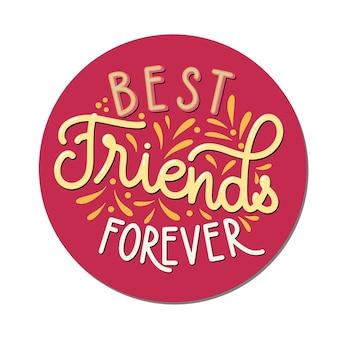Dzień przyjaźni ręcznie rysowane napis. przyjaciele na wieczność. elementy wektorowe na zaproszenia, plakaty, kartki z życzeniami. projekt koszulki