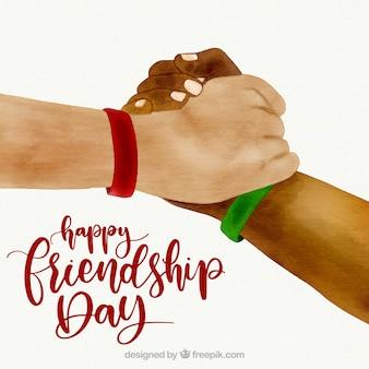 Dzień przyjaźni tło z rąk