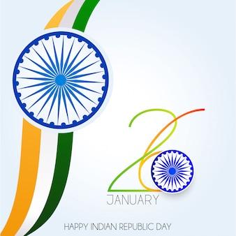 Dzień republiki indii. 26 stycznia indian tło