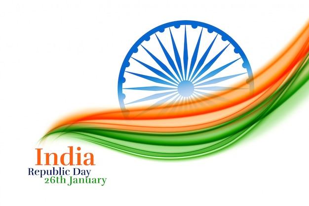 Dzień republiki indii kreatywny w trójkolorowym