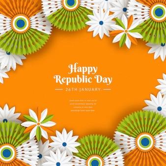 Dzień republiki indii w stylu papierowym