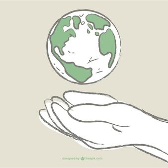 Dzień rysunek ziemia