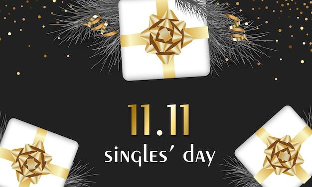 Dzień singla dzień wyprzedaży holiday banner 11 listopada chiński dzień wyprzedaży 1111