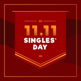 Dzień singla w czerwono-złotym stylu