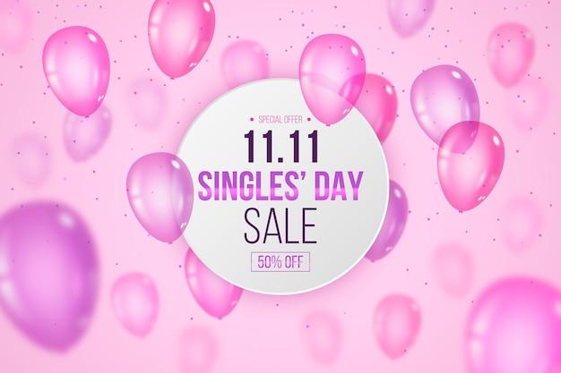 Dzień singla z realistycznymi balonami