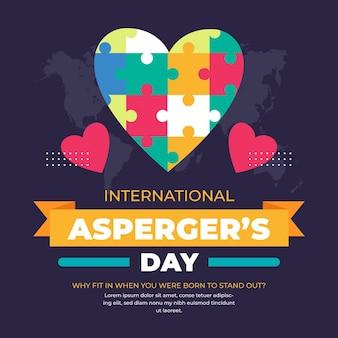 Dzień świadomości aspergera serca puzzle