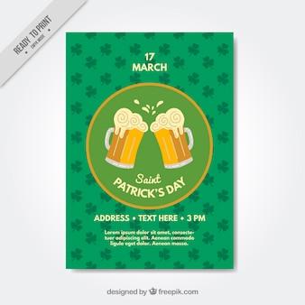 Dzień świętego patryka piwa broszura