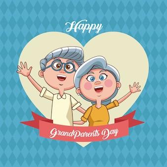 Dzień szczęśliwy dziadków karty