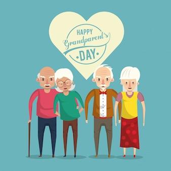 Dzień szczęśliwy dziadków z kreskówek