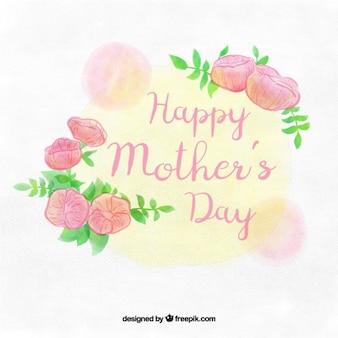 Dzień tle cute matki z kwiatami
