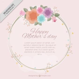 Dzień tle kwiatów akwarelą matki