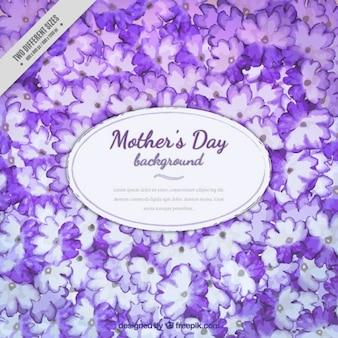 Dzień tło fioletowy ręcznie malowane kwiaty matki