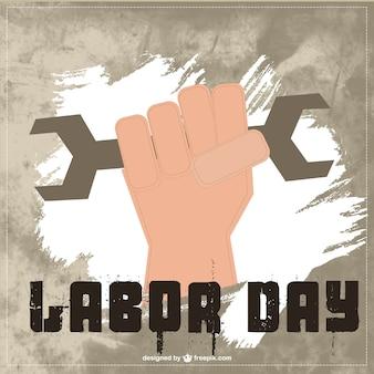 Dzień vector art świata pracy