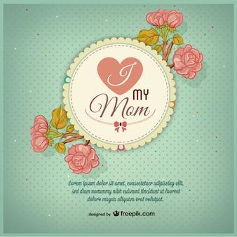Dzień wolny matki projekt retro
