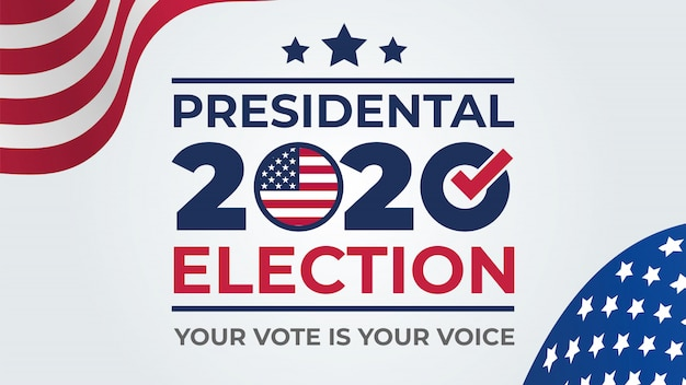 Dzień wyborów. głosuj na rok 2020 w usa