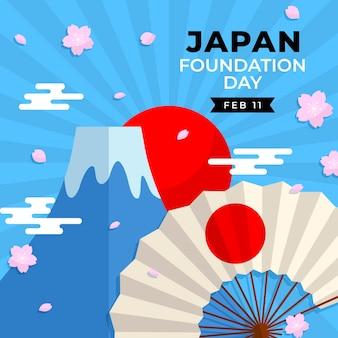 Dzień założenia japonii z wentylatorem