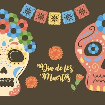 Dzień zmarłego meksykańskiego zaproszenia