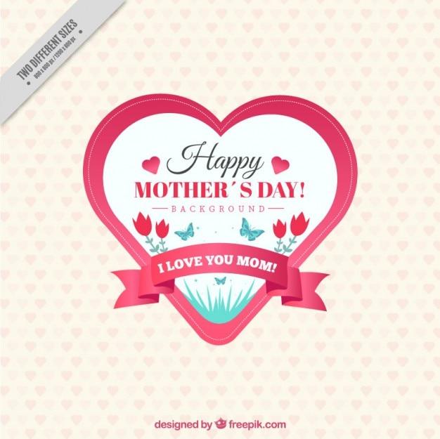 Dzień znaczek rocznika serca matki kształcie