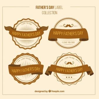 Dziennie odznaki rocznika ojca wstążkami