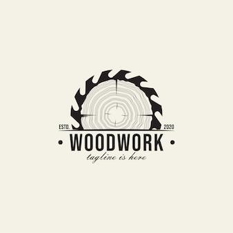 Dziennik stolarski vintage drewniany