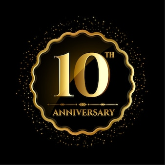 Dziesięć lat w złotej ramie z iskrami