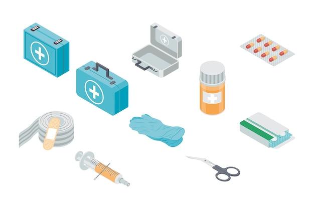 Dziesięć zestawów pierwszej pomocy