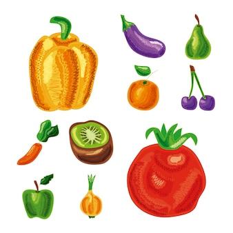 Dziesięć zestawów zdrowej żywności