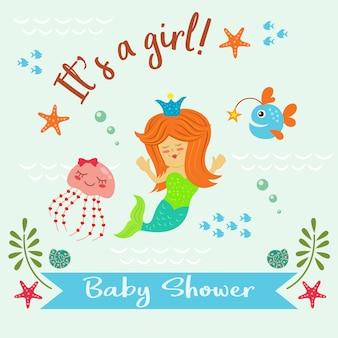 Dziewczyna baby shower backgrou