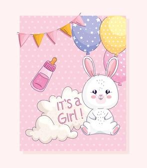 Dziewczyna baby shower card