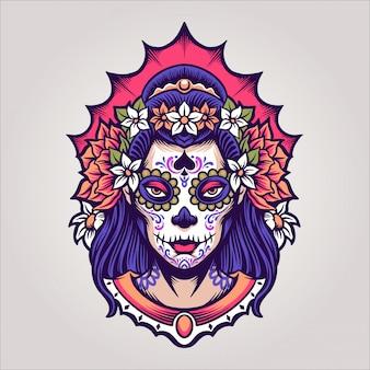 Dziewczyna dia de los muertos