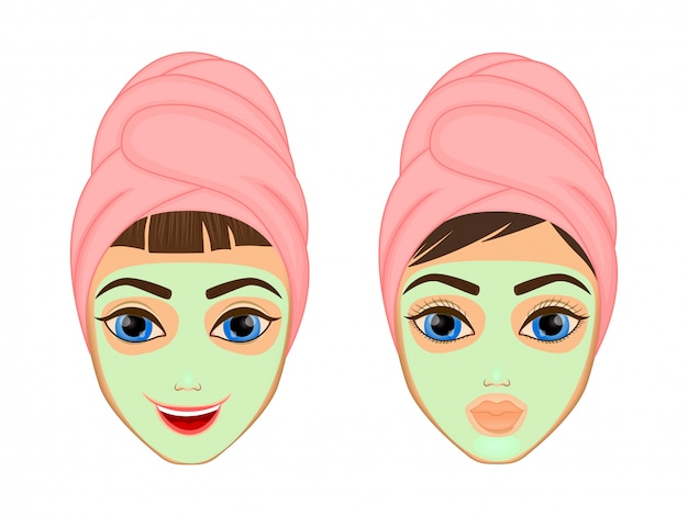 Dziewczyna do pielęgnacji skóry i maski