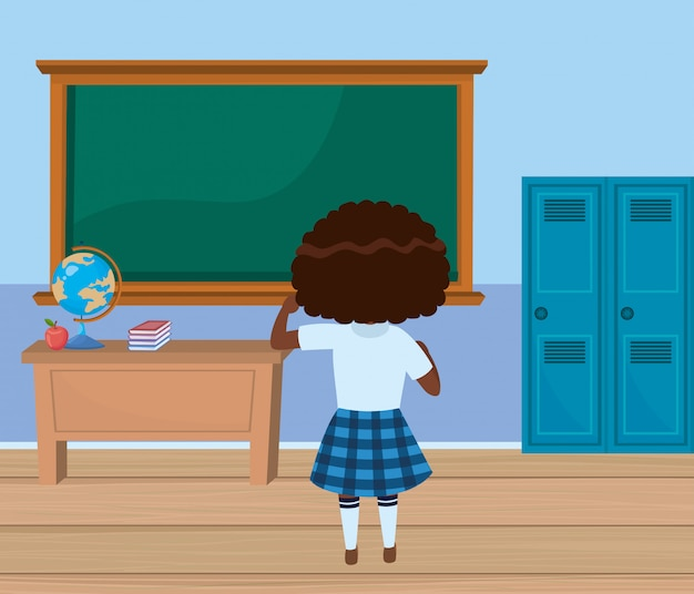 Dziewczyna dziecko w szkole