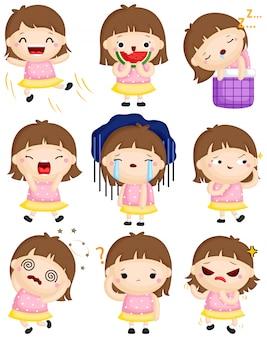 Dziewczyna emocja