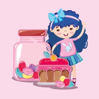 Dziewczyna i słodka