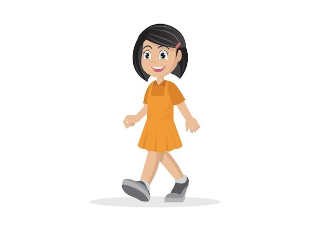 Dziewczyna idzie.