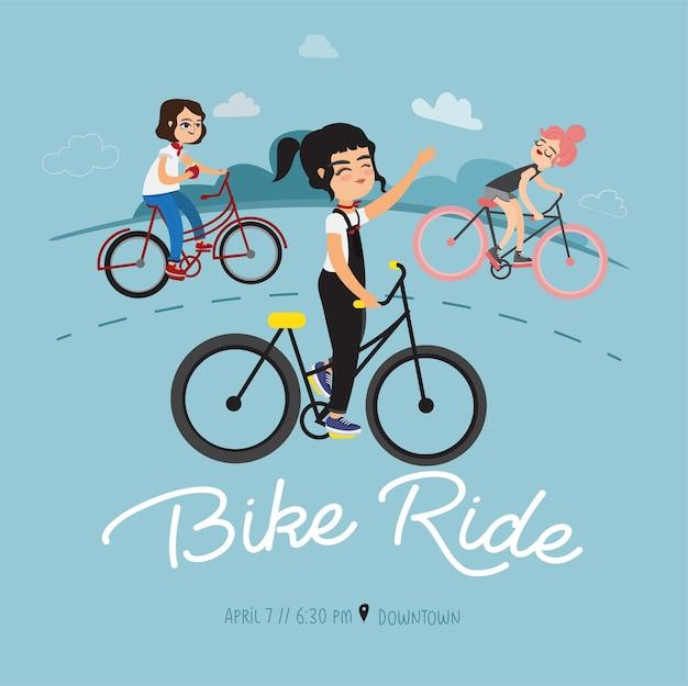 Dziewczyna jazda rowerem