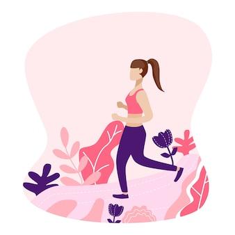 Dziewczyna jogging w parku