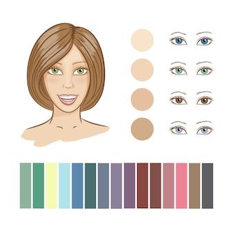 Dziewczyna kolor wiosny typu