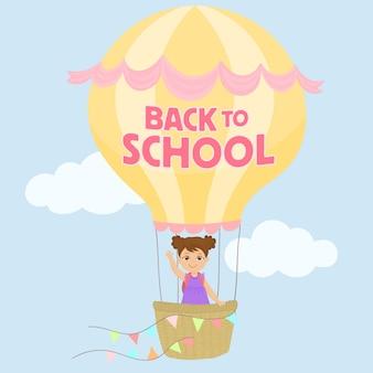 Dziewczyna latający balonem