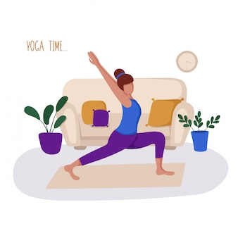 Dziewczyna lub kobieta i jej hobby lub codzienna aktywność - joga, trening