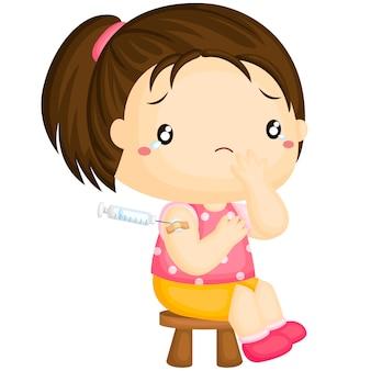 Dziewczyna ma szczepionkę do immunizacji