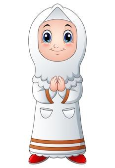 Dziewczyna muzułmańska kreskówka