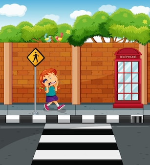 Dziewczyna na czacie na telefon na ulicy